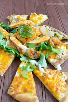 Flatbread Salad with Buffalo Chicken