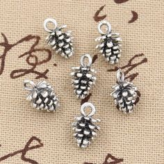 20pcs Charms pinecone 10mm Hollow Antique,Zinc alloy pendant fit,Vintage Tibetan Silver,DIY for bracelet necklace-in Charms from Jewelry on Aliexpress.com | Alibaba Group