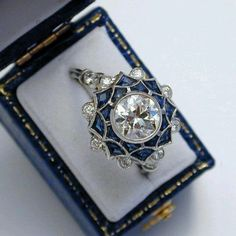 Diamonds/Sapphires/Art Deco. Who could ask for more?