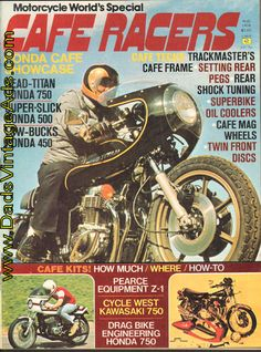 1974 August Cafe Racers Motorcycle Magazine