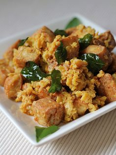 crispy tofy with salted eggs