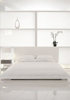 ♂ minimalist interior design white bedroom