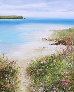 Beach Watercolor, Watercolor Landscape, Abstract Landscape, Seascape Paintings, Landscape Paintings, Watercolor Paintings, Watercolour, Beautiful Paintings, Beautiful Landscapes