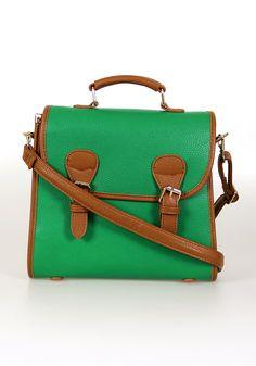 Baylor green satchel