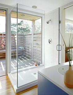 indoor/outdoor shower | John Butterworth Architecture