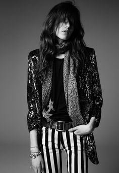 Saint Laurent Psych Rock Collection by Hedi Slimane with Grace Hartzel, Los Angeles, June 2014 Image Fashion, 70s Fashion, Look Fashion, Trendy Fashion, Fashion News, Fashion Outfits, Trendy Style, American Fashion, Girl Fashion