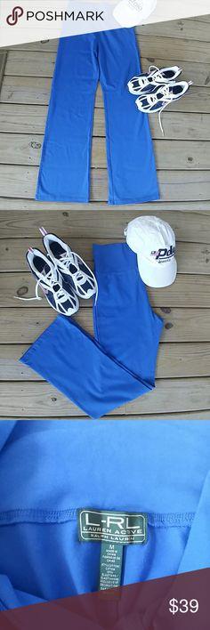 Ralph Lauren - Lauren Active - Joggers NWOT NWOT Ralph Lauren Active Wear. Cobalt Blue. Inseam is 29in. Waist is 14.5. The Waist can be Worn High or Rolled Down. The Bottom Pant Leg is 9in. 87% Cotton 13% Elastane. You Will Look Great in These! Lauren Ralph Lauren Pants Track Pants & Joggers