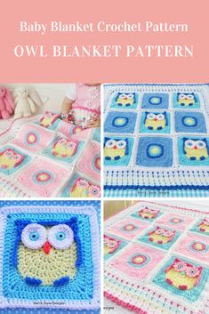 Crochet Owl Blanket Pattern #crochetpattern #crochetowlblanketpattern #crochetblanket Affiliate Link Crochet Owl Blanket Pattern, Baby Blanket Crochet, Crochet Baby, Crochet Patterns, Crochet Blankets, Basic Crochet Stitches, Easy Crochet, Crochet Projects To Sell, Owl Baby Blankets