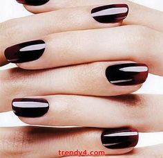DIY Black Nail Design 2014 Inspiring Black Nails 2014