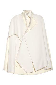 Esteban Cortazar|Cape-back wool-blend and duchess satin jacket|NET-A-PORTER.COM