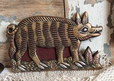 A personal favorite from my Etsy shop https://www.etsy.com/listing/193825350/german-medieval-pig-antique-springerle