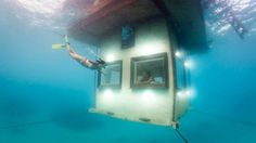 Underwater Hotel Room and Sleep with the Fishes:  Manta Resort Pemba, Tanzania