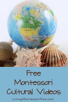 Free Montessori Cultural Videos, FABULOUS videos explaining each lesson for parents.  wonderful, wonderful, wonderful!