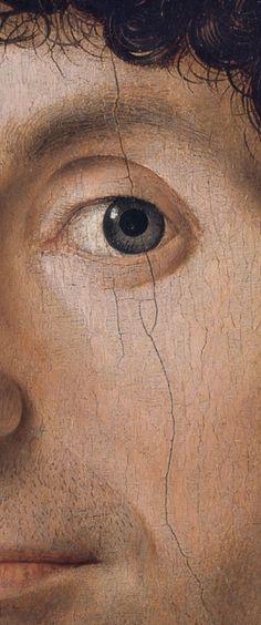 Antonello da Messina, ca. 1472-6, (detail) Portrait of a Man, Oil on panel.quatroccento