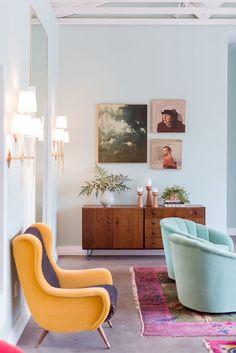 Aqua living room chair