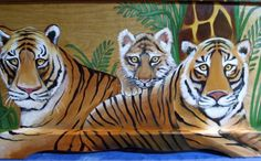 Custom Tiger Jungle Toy Chest Done With Monogram Or Name, Kids Furniture, Art…