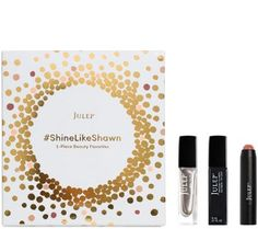 Julep - Shine Like Shawn 3-pc Collection (It's Balm Lip Crayon in Apricot Nude, Freedom Polymer Top Coat, nail color in Shawn shine) from QVC
