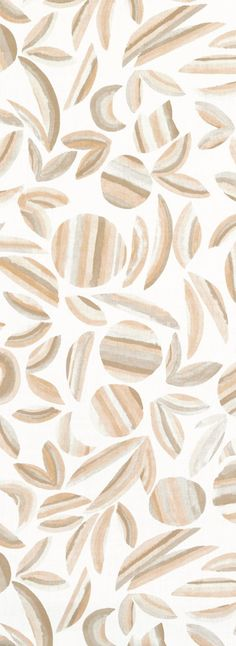 Striped Garden Fabric in Taupe