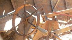Detalhe de  um velho barco