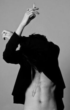 male model with smoke