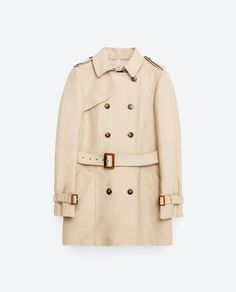 Image 8 of COTTON TRENCH COAT from Zara