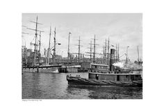 Shipping at East River Docks, 1900 Fine Art Print Poster