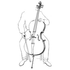 cello sitting position black white sketch ❤ liked on Polyvore featuring backgrounds, music, fillers, drawings and art