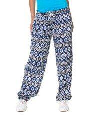 Terranovastyle.com - Pantalone lungo donna in viscosa fantasia. Modello con elastico in vita e coulisse, polsino alla caviglia