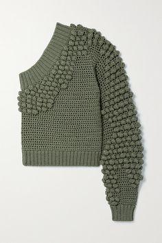 Knitwear Fashion, Knit Fashion, Fashion News, Kawaii Sweater, Blusas Top, Green Sweater, Helmut Lang, Army Green, Chic Outfits