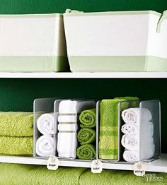 Save Your Linen Closet                         Is your linen closet overflowing? Pare down your stock to three towels and washcloths per person, two sets of sheets per bed, plus a set of each for guests.                         -- Laura Wittmann, author of Clutter Rehab