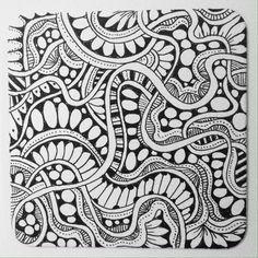 Tangled a coaster. redaardvark design Copyright 2014 mike christoff zentangle zendoodle zentangle art zentangle pattern