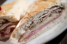 Classic Cuban. Ham, pork, and Swiss cheese, steamed and hot-pressed ...