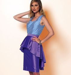 Misses' Dress and Peplum...Love this but prefer to redesign into jumpsuit with peplum...Butterick