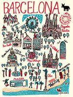 Barcelona Art Print by Julia Gash at King & McGaw