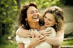 Senior picture with mom. Something like this would be really cool for a homeschooling student.