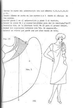 dress with side swirly panel