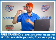 FREE video training that walks you through a 5-step strategy for FB retargeting list.