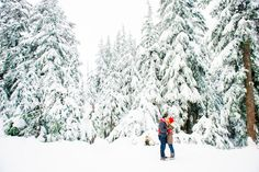 Let it snow! A beautiful snow-filled engagement session by http://bakephotography.com