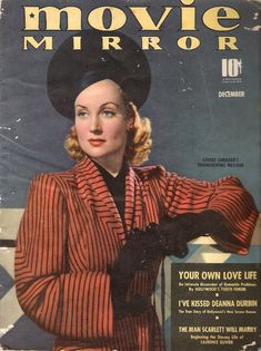 Carole Lombard on the cover of Movie Mirror...