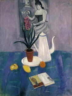 Still Life with Coffee Pot - Einar Jolin , 1914 Swedish, 1890-1976 Oil on canvas, 61 x 46 cm.