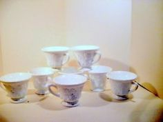 Vintage Milk Glass Coffee or Punch Cups Colony Harvest by Indiana 8 Cups