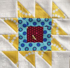 Happy Go Lizzie's (Gina) block - Modern Stash bee by Debtrail, via Flickr