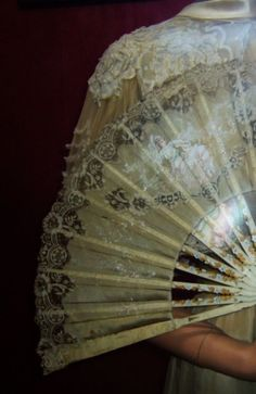 Marriage Fan - on display in the Museum of Marriage at the Château de Villesavin.  This chateau was built between 1527 and 1537 by Jean le Breton (Lord of Villandry and Secretary of Finance to King Francis I).  Breton had also overseen the construction of the famed Chambord château  ~ photo ©yama-bato