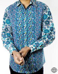 696e1c8d3b Chemise Homme Originale Bleue Psychédélique - Inga. PACAP chemise homme en  coton ...