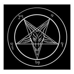 Baphomet, Custom Posters, Dark Art, Satan, Custom Framing, Keep It Cleaner, Prints, Unisex, Medium