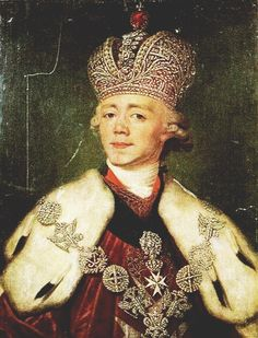 Tsar Paul I of Russia. - Only son of Peter and Catherine the Great. He remained overshadowed by his mother for much of his life. Paul's reign lasted for only five years, until he was assassinated by conspirators.