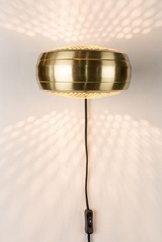 Wandlamp Gringo - Messing - Zuiver