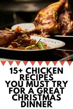 Chicken Recipes for Christmas - Enjoy our best chicken recipes for Christmas dinner eve that you make pretty quickly and serve hot with your family. Chicken Main Course Recipes, Quick Chicken Recipes, Healthy Chicken Dinner, Chicken Breast Recipes Healthy, Chicken Thigh Recipes, Beef Recipes, Yum Yum Chicken, Appetizer Recipes, The Best