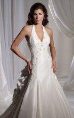 Mermaid Floor Length Halter Dress White Bandage Destination Wedding Gowns 1111 Embroidery Applique