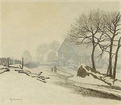 Winter landscape near Altastenberg in Sauerland, Max Clarenbach. Germany (1880 - 1952)
